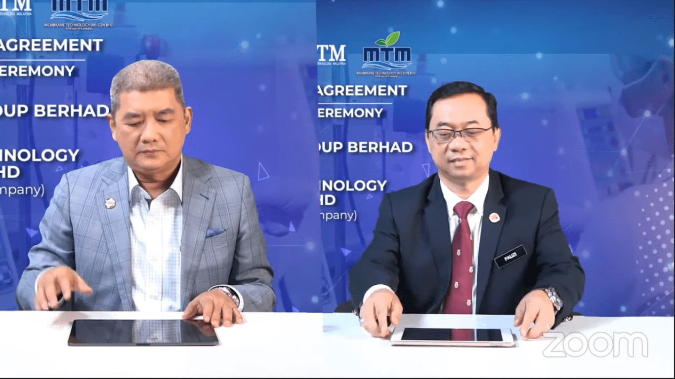 SDGB-UTM Signed MoA to Develop The First Industrial Scale Membrane Manufacturing Technology in Malaysia