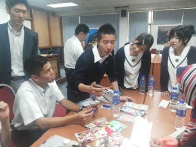 Global Education Network between FAB and Seifu Nankai High School, Japan